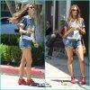 Les looks de Alessandra Ambrosio dans les coulisses de son photoshoot pour la marque Colcci à Los Angeles. Lundi, 18 juin