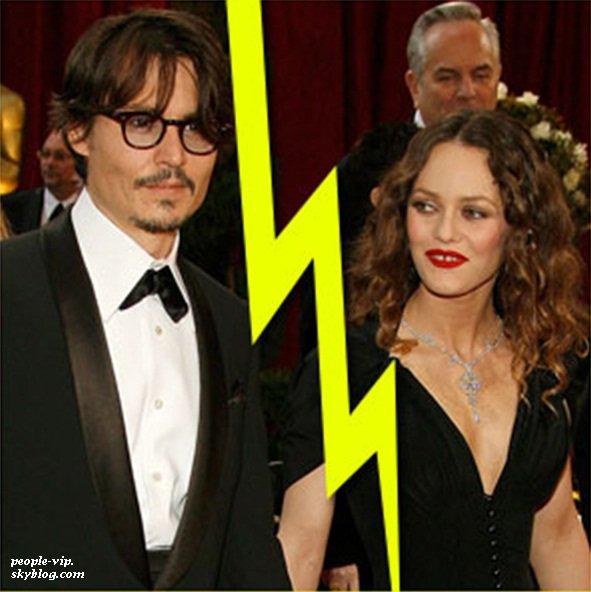 Triste nouvelle : Johny Depp et Vanessa Paradis annoncent leur divorce après 14 ans de relation.