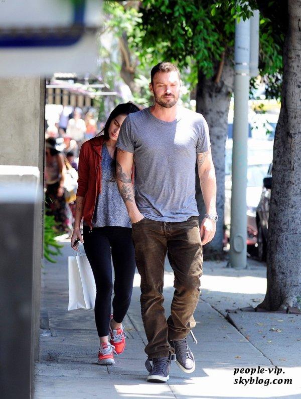 Megan Fox et Brian Austin Green ont déjeuner en amoureux dans le restaurent Little Dom's à Los Feliz, en Californie. Mardi, 19 juin