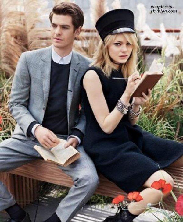 Emma Stone et Andrew Garfield en couverture de Teen Vogue Magazine.