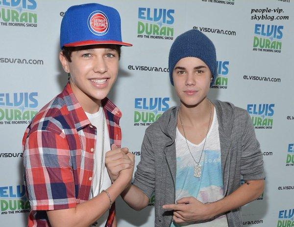 Justin Bieber à l'émission radio Elvis Duran's Z100 à New York City. Jeudi, 21 juin