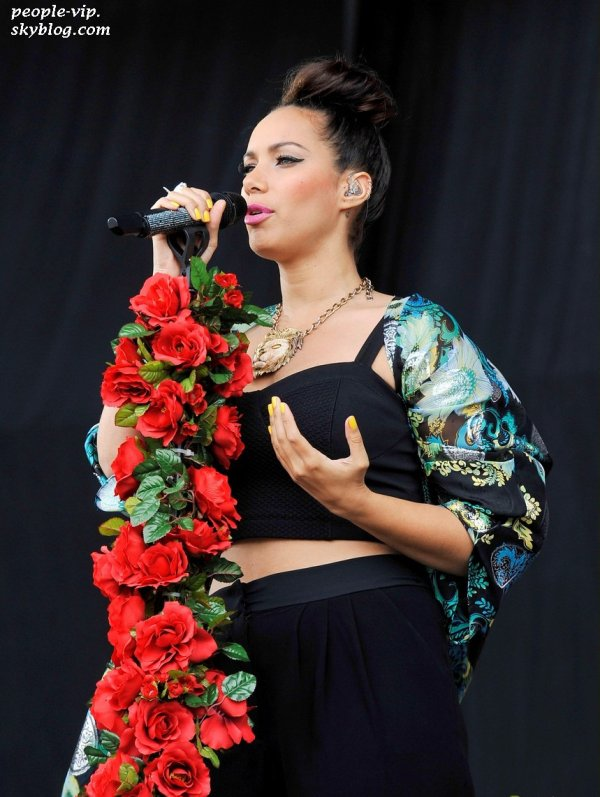 La performance de Leona Lewis au BBC Radio 1 weekend à Hackney, en Angleterre. Samedi, 23 juin