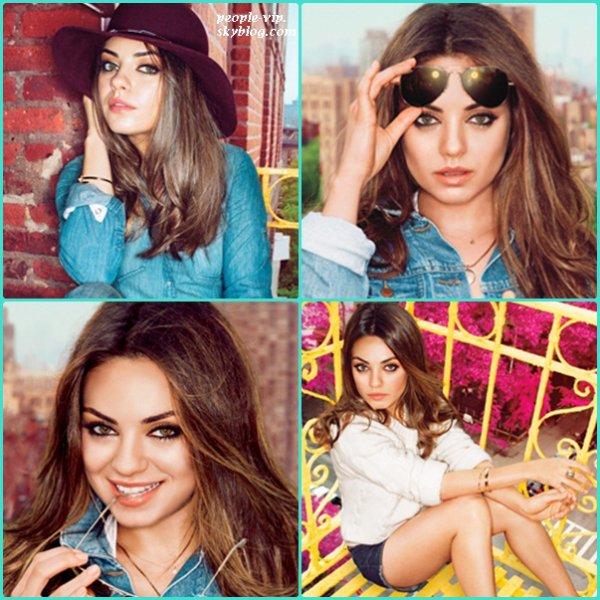 """Mila Kunis en couverture de """"Glamour""""."""