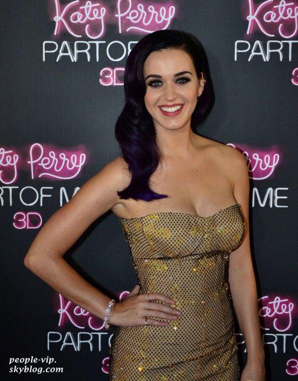 """Katy Perry à la première de son film """"Katy Perry: Part Of Me 3D"""" à Sydney, en Australie. Samedi, 30 juin"""