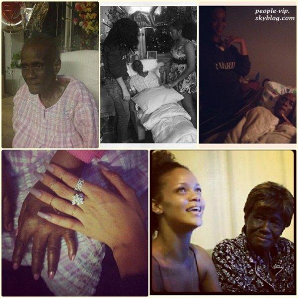 """Rihanna pleure le décèsde sa grand mère """"Gran Gran Dolly"""" en postant des photos très émouvantes sur son compte instagram . Toutes nos condoléances à la princesse de la Pop."""