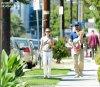 Nathalie Portman est allé déjeuner avec son mari Benjamin Millepied et leur fils Aleph à Hollywood. Dimanche, 01 juillet