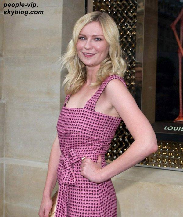 Kristen Dunst à l'ouverture de la nouvelle boutique Louis Vuitton à Paris. Mardi, 03 juillet