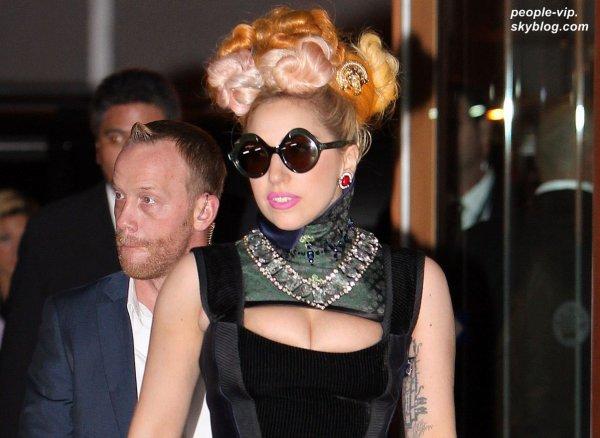 Lady Gaga arrivant au Crown Metropol en Australie. Jeudi, 05 juillet