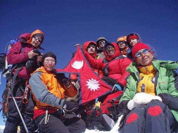 Island peak climbing in Nepal.