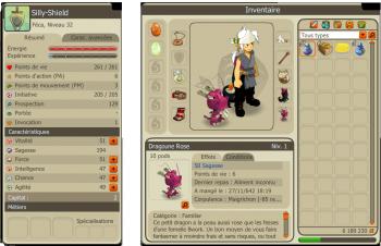 Présentation de chaque personnages et recherche de guilde.