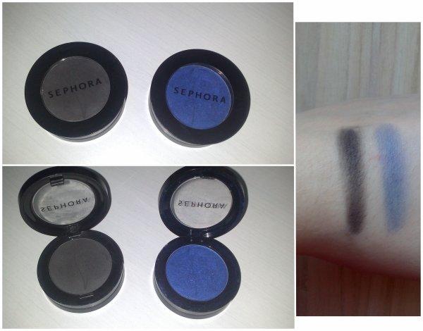 """Mon avis sur : Les Fard à paupières Colorful """"must have n°6"""" (noir) et """"my favorite jeans n°40"""" (bleu) de chez Sephora"""