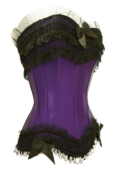 corset voiolet et noir