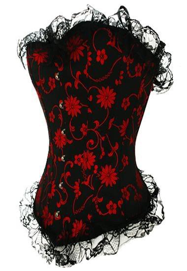 corset rouge et noir