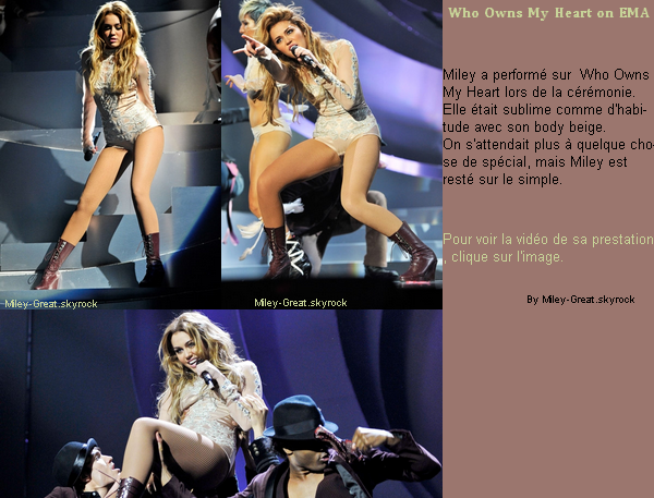 -      o7 Novembre 2010 -      -----Candids-----  Miley aux EMA à Madrid.  -  ----  Youtube  ---- Mileyraycyrus-france