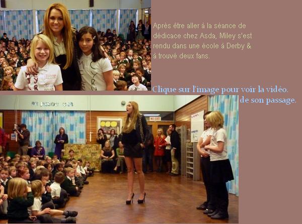 -      o9 Novembre 2010 -      -----Candids-----  Miley en séance de dédicace chez Asda & de passage dans une école en UK .  -  ----  Youtube  ---- Mileyraycyrus-france