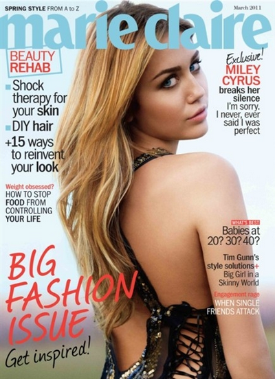 -      09 Février 2011 -      -----Photoshoot-----  Photoshoot pour le magasine Marie Claire US.   -  ----  Youtube  ---- Mileyraycyrus-france