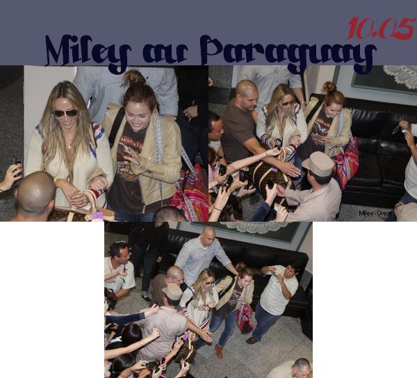 -      10 Mai 2011 -      -----Candids----- Miley & Tish sont arrivés au Paraguay, Miley donna un concert le soir même à Asuncion.   -  ----  Youtube  ---- Mileyraycyrus-france
