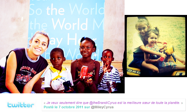 06.10.11 Miley à Haïti - Miley n'est resté que quelques jours à Haïti, d'autres photos et une vidéo ont fait leurs apparition. Une nouvelle photo de Miley enfant est apparut sur le net. Ce seront surement les dernières photo de Miley à Haïti, elle est de retour chez elle, à Los Angeles.