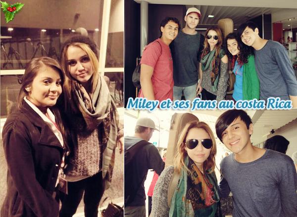 """24.12.11  Miley et Liam au Costa Rica. -  Des fans ont aperçut Miley, Liam ainsi que son frère Chris au Costa Rica. Nous savons qu'ils vont y rester quelques jours et seront de retour si la rumeur est vraie le 25 décembre à Los Angeles. Une polémique sur le faîtes qu'elle ait """"insulté"""" (ce qui n'est pas le cas) une soit disant fan qui ne l'était pas à fait le tour d'internet. Je n'en parlerais pas, Miley s'est exprimé à ce sujet sur Twitter et nous dit qu'elle aime ses fans. Donc pour moi c'est un sujet inutile !"""