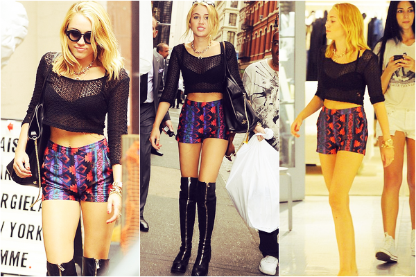 Le 23 juillet 2012 Miley se promène et fait les boutiques à New-York.  Elle serait à New-York pour un photoshoot surement celui de son nouvel album.  -