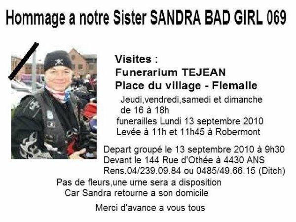 Funérailles de Sandra