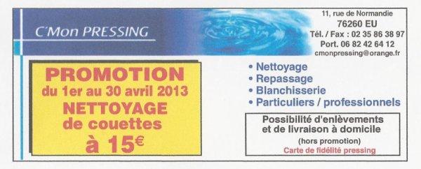 PROMOTION SUR LES COUETTES 15¤ du 1 au 30 septembre 2013