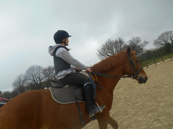Ma soeur a cheval