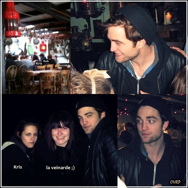 ____ 31 décembre 2010 | Rob et Kris étaient accompagnés d'une vingtaine de leurs amis pour passer le Nouvel An dans The Spyglass pub, sur l'île de Wight pour la deuxième année consécutive !  ____