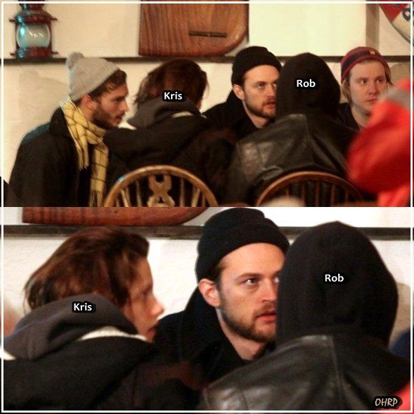 ____ 02 janvier 2011 | Rob + sa petite amie + ses amis déjeunaient au Spyglass pub.   ____