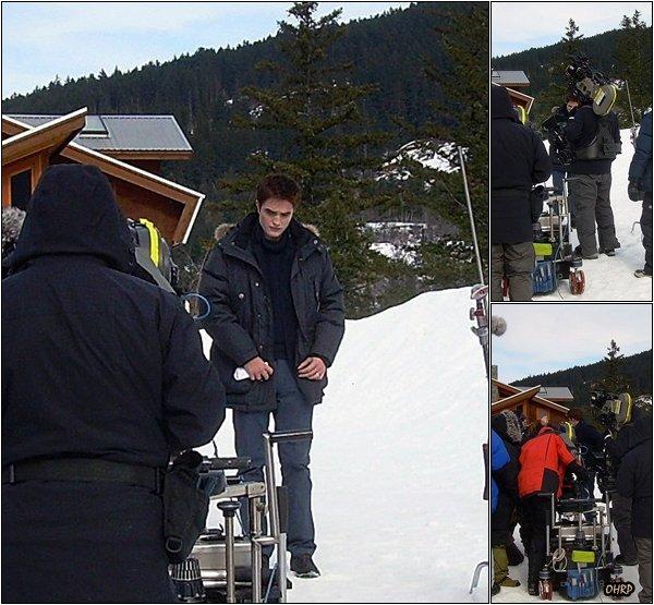 ____ 23 février 2011 | Robert était sur le tournage de Breaking Dawn à Vancouver !  Il semblerait qu'il tournait la scène où il est en Alaska pour demander de l'aide au clan des vampires Denali...____