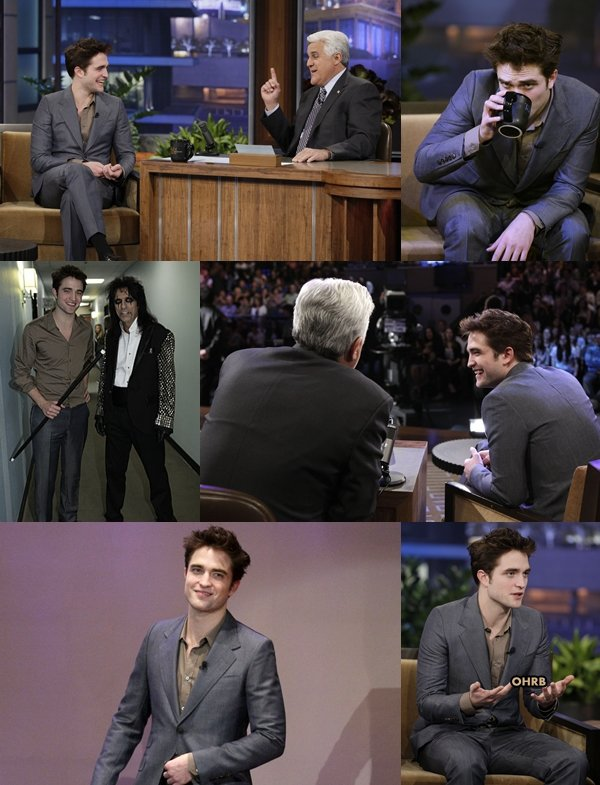 "____ 18 Mars 2011 | Robert était sur le plateau du ""The Tonight Show With Jay Leno"" ! ____"