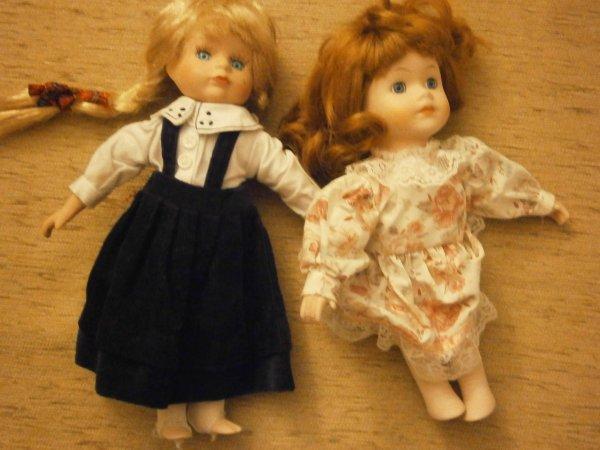 Mes poupées en porcelaine!!