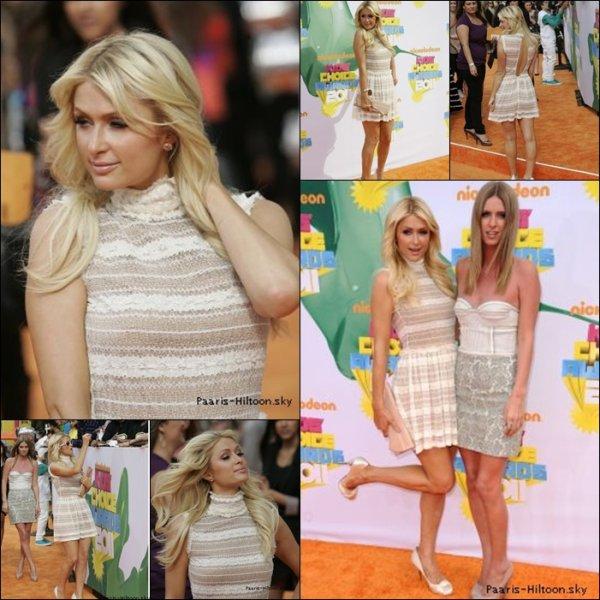 .04/04/11: Les soeurs Hilton était au Kids Choice Awards 2011 .