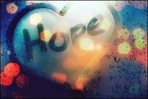 gib niemals die hoffnung auf.
