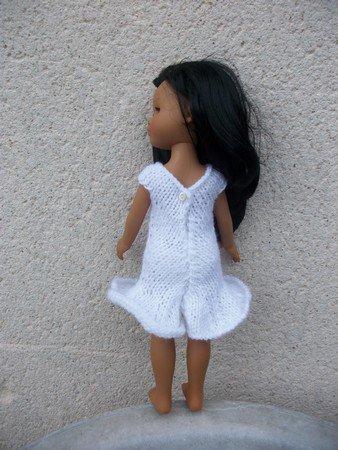 robe blanche à frou-frou pour chérie de corolle.