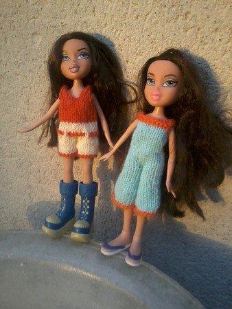 combishort pour poupée bratz