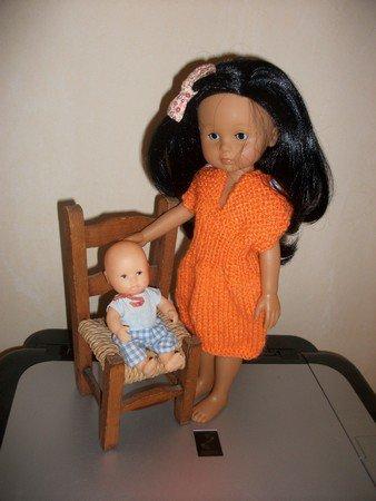 robe orange pour chérie de corolle.