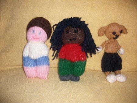 petites choses diverses tricotées.
