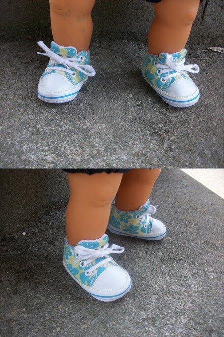 défilé de chaussures, les baskets.