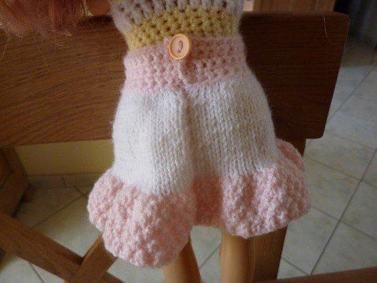 tuto tricot/crochet : une jupe pour poupée.