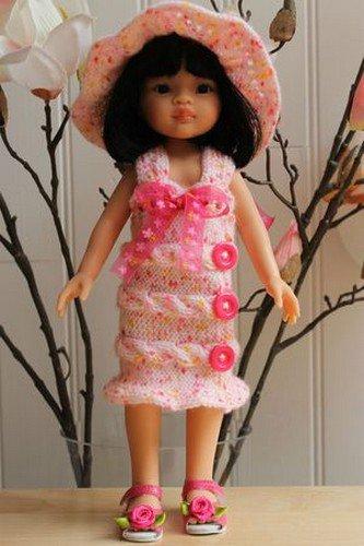 tuto tricot robe été poupée