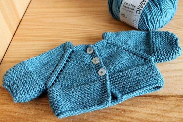 tuto tricot: gilet poupon corolle 36 cm