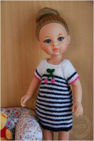 tuto tricot: une robe rayée.