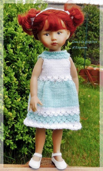 tuto tricot: robe poupée boneka