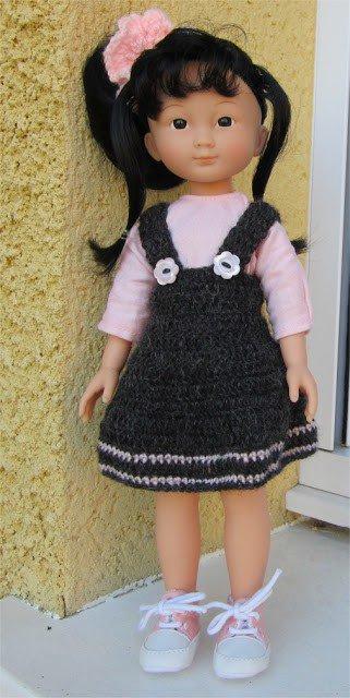 tuto tricot: jupe à bretelles pour les chéries.