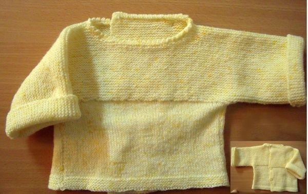 tuto tricot: brassière bébé 0/3 mois.