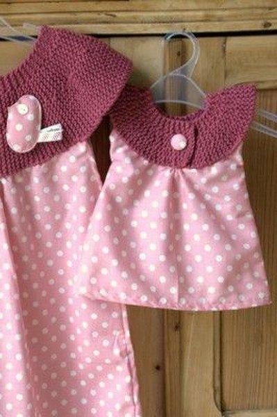 tuto : robe en tissu et tricot