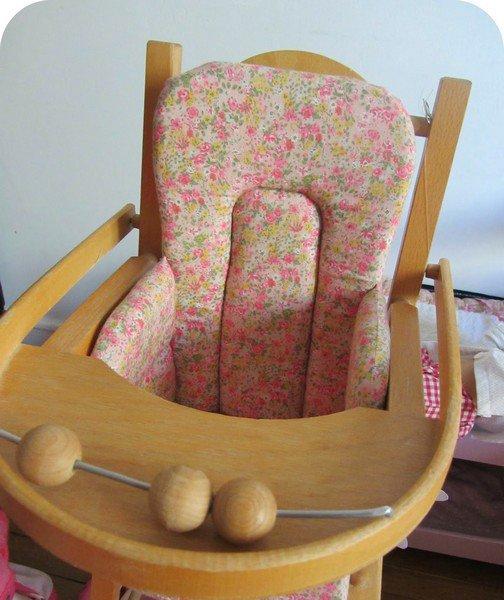 Tuto de coussin de chaise haute pour les poupées de ces demoiselles
