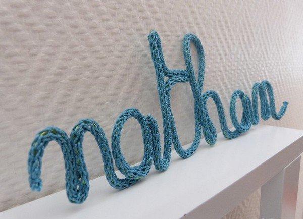 tuto: créer des prénoms au tricotin.