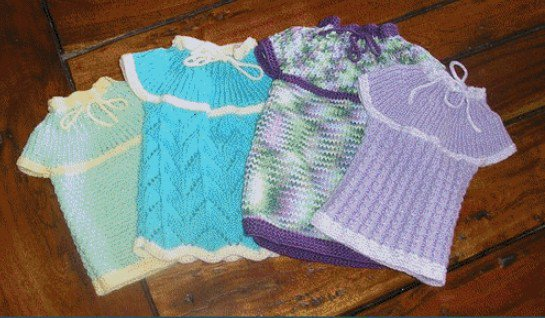 tuto tricot: petite robe pour préma